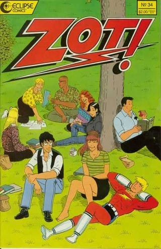 The cover of Zot! #34