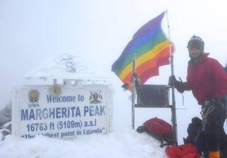 Illustration for article titled Ice Cream Maker Plants Gay Pride Flag on Uganda's Highest Peak