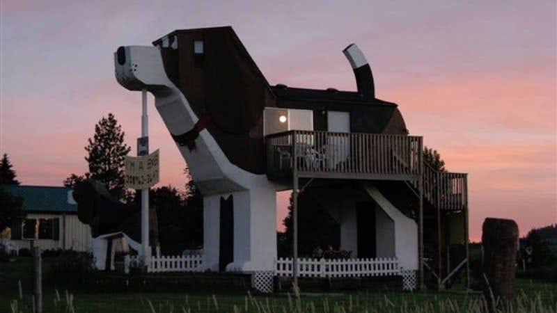 Esta casa con forma de sabueso es real y se puede alquiler en Airbnb