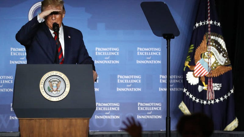 Donald Trump addresses the National Historically Black Colleges and Universities Week Conference at the Renaissance Hotel Sept. 10, 2019 in Washington, D.C.