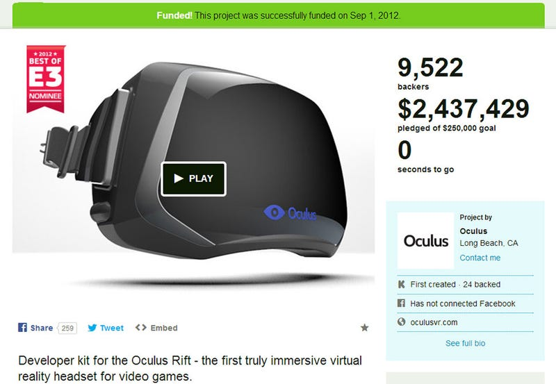 Oculus Rift: From Rags To Riches