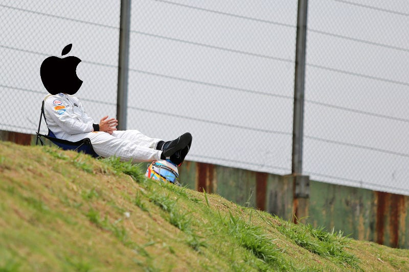 Illustration for article titled F1nance Snippet: Apple Racing