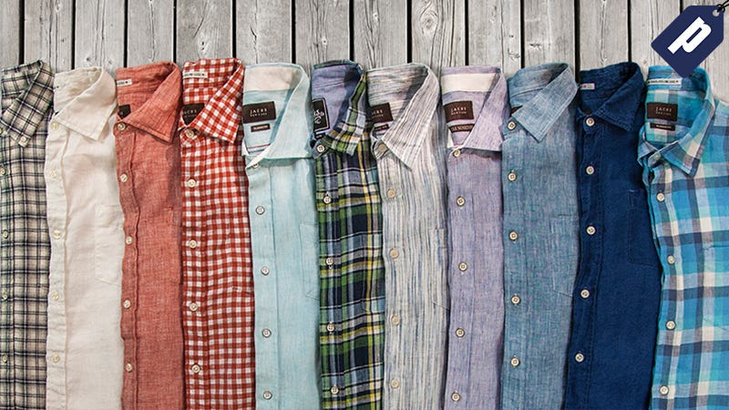 Illustration for article titled Save 60% On Jach's Lightweight Linen Shirts Built For Summer (From $28)