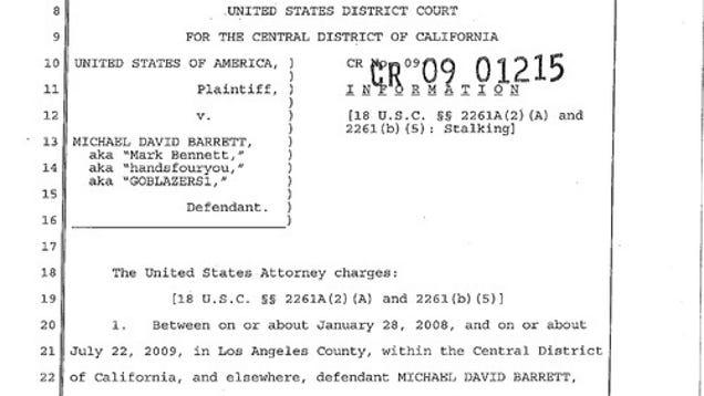 The Case Against Michael David Barrett, Cont'd
