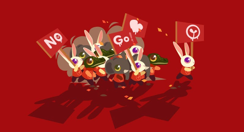 Illustration for article titled Anarcute Is A (Very Cute) Game About Rioting