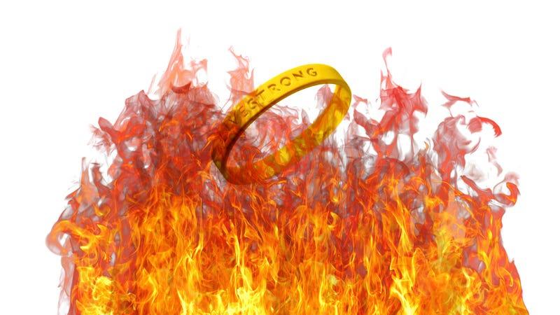 Illustration for article titled Photoshop Contest: Let's Destroy Some Livestrong Bracelets