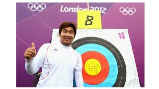 Illustration for article titled Legally Blind Archer Breaks First World Record Of 2012 Olympics
