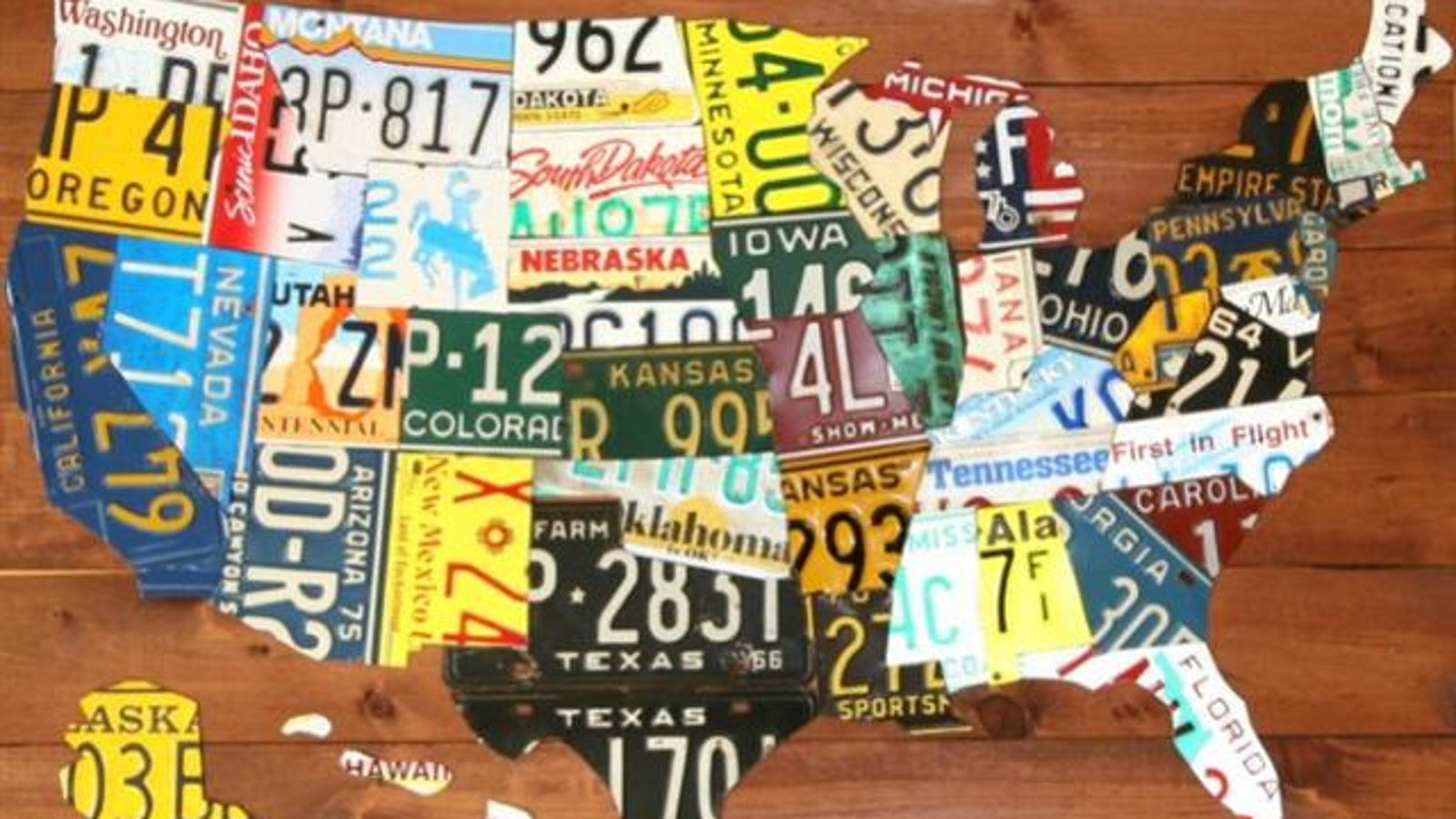 Us Map Made Out Of License Plates.Map Of Usa Made Of States License Plates