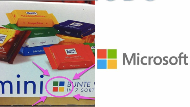 Illustration for article titled Did Microsoft Steal Its New Logo From a Candy Company?