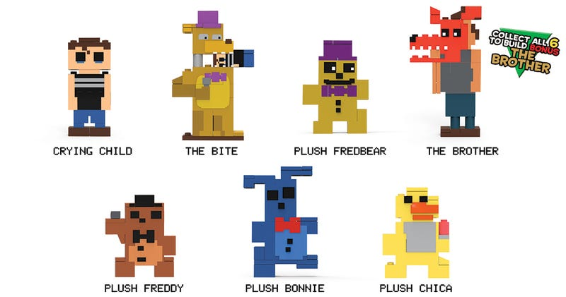 Illustration for article titled 8-Bit Five Nights At Freddy's Figure Series 2 Goes Straight For The Frontal Lobe