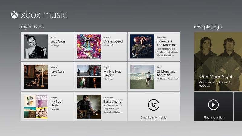 Illustration for article titled Xbox Music Hands On: The Perfect Music Service—If You Use Nothing But Microsoft Stuff