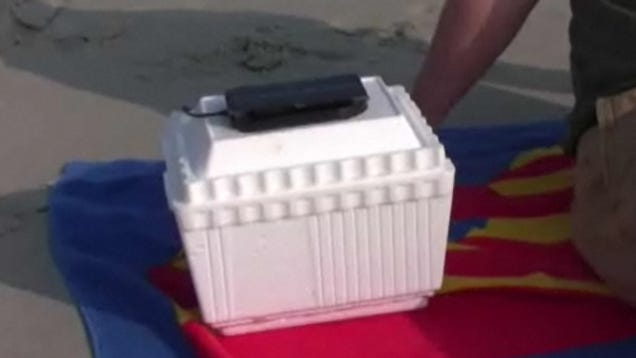Build a solar powered drink cooler for perfect summer for Make your own solar panels with soda cans