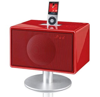 Illustration for article titled Mini GenevaSound iPod Dock Glossy Like a Piano, Red Like Lipstick