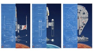 Illustration for article titled Blueprints of the Rebel ships from the Star Wars Battle of Yavin