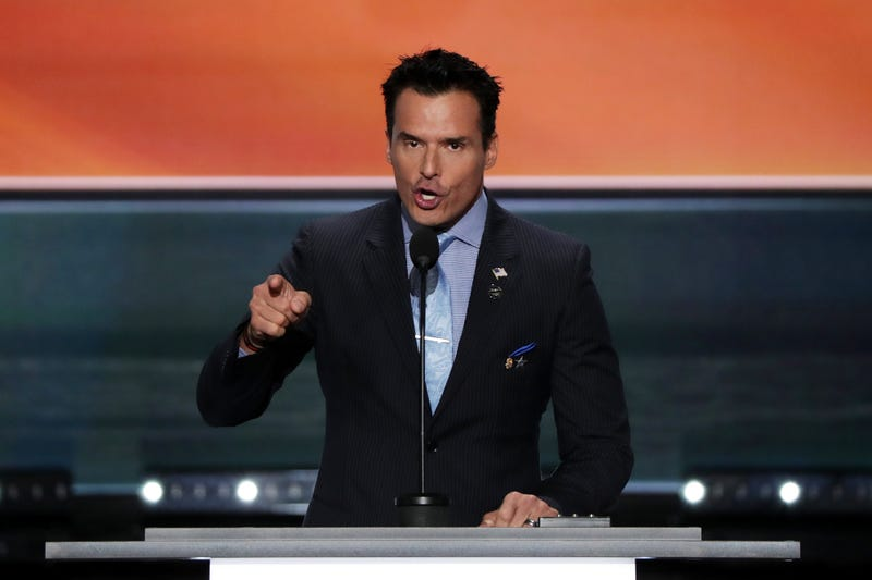 Antonio Sabato Jr. delivers a speech at the Republican National Convention on July 18, 2016, in Cleveland.Alex Wong/Getty Images