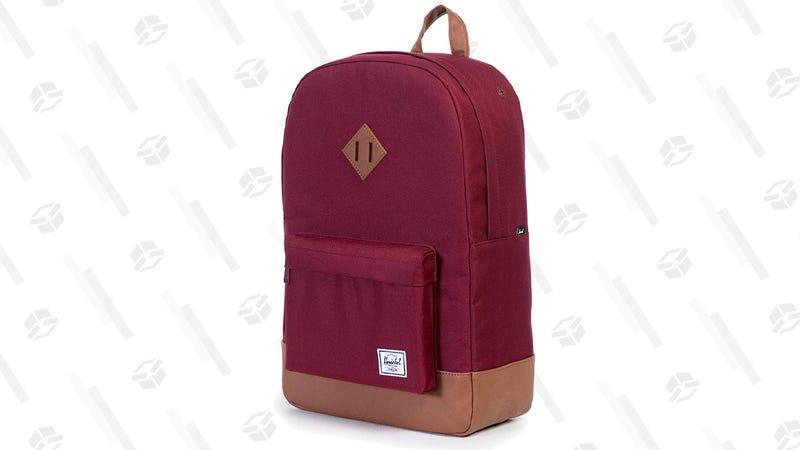 Herschel Heritage Backpack, Windsor Wine/Tan Synthetic Leather | $36 | Amazon