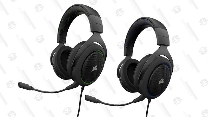 Corsair HS50 Stereo Gaming Headset (Blue or Green) | $40 | Amazon