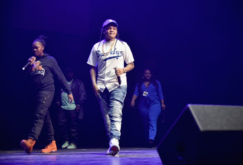 Hip-hop artist Young M.A. performs onstage during Power 105.1's Powerhouse 2016 at Barclays Center in Brooklyn, N.Y., on Oct. 27, 2016.Theo Wargo/Getty Images for iHeart-Power 105.1
