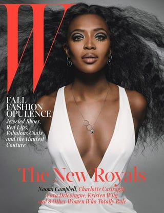 Illustration for article titled Naomi Campbell Covers W Magazine, Loses Her Arms in the Process