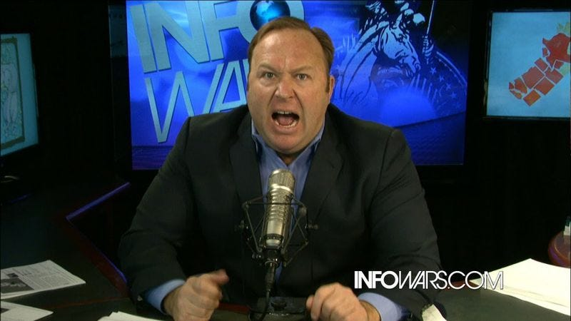 Illustration for article titled Alex Jones loses custody battle to system rigged against hate-filled lunatics