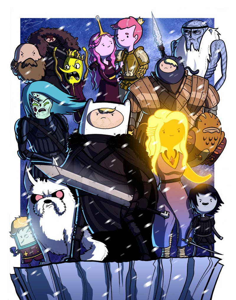 Illustration for article titled This Adventure Time/Game Of Thrones Mashup Is Perfectly Cast