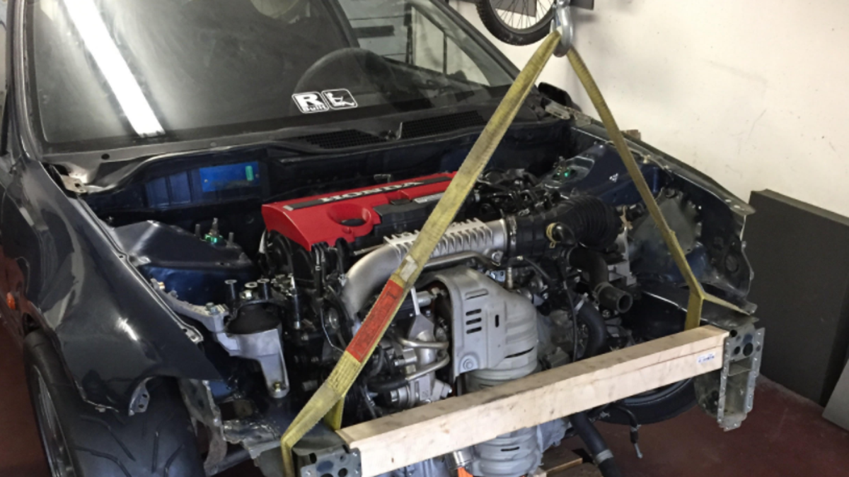 This Madman Is Stuffing A New Honda Civic Type R Motor Into 1992 92 Chassis Wiring Diagram Hatch