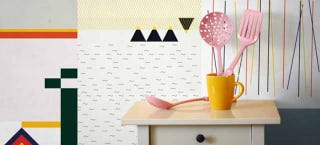 Illustration for article titled These Abstract Wallpaper Rolls Let You Mix and Match Like a Madman