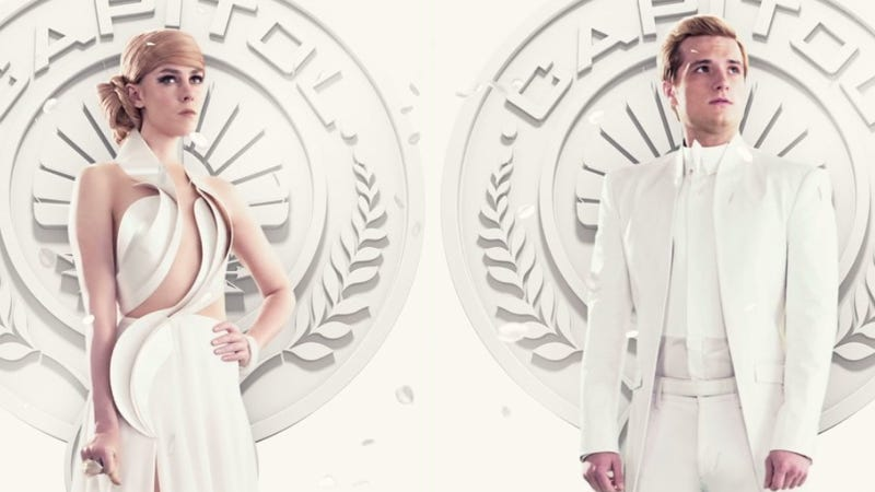 Illustration for article titled Peeta and Johanna Look Fashionable, Angsty in New Mockingjay Images