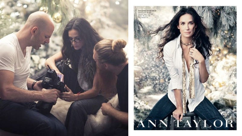 Illustration for article titled Demi Moore Is The Face Of Ann Taylor