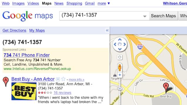 Perform Reve... Reverse Google Maps