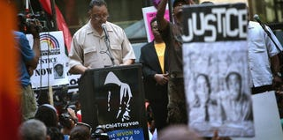 The Rev. Jesse Jackson Sr. speaks at a Justice for Trayvon rally in Chicago. (Scott Olson/Getty Images)