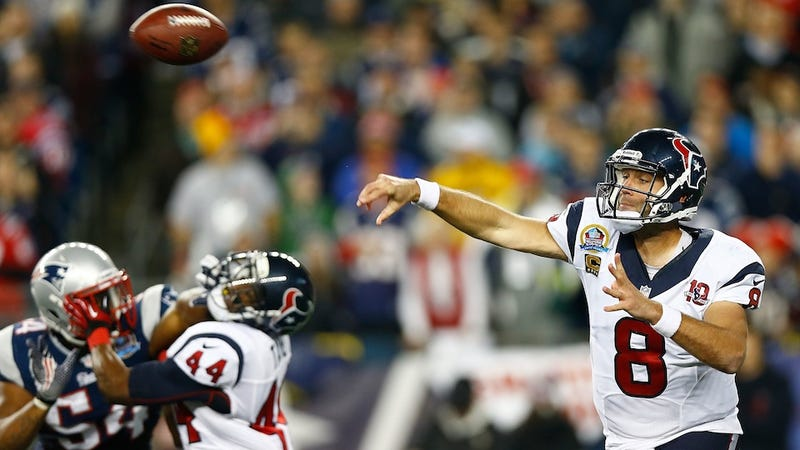 Illustration for article titled Matt Schaub Says The NFL Will Never Evolve Beyond The Pocket Passer