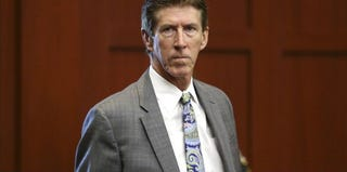 Defense attorney Mark O'Mara enters the courtroom for George Zimmerman's trial. (Gary W. Green/pool/Getty Images)