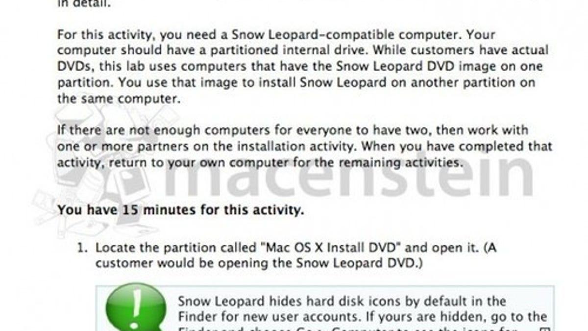 Rumor: Snow Leopard Hitting Shelves Next Friday, August 28
