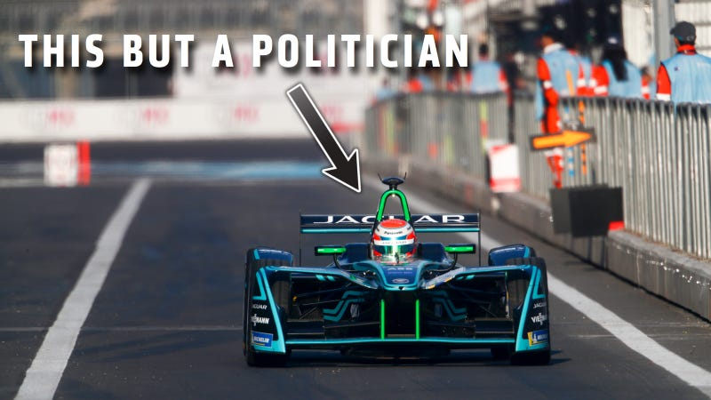 Illustration for article titled New York's Governor Will Drive A Formula E Car To The Auto Show (Probably Because The Subway Doesn't Work) [UPDATE: No]