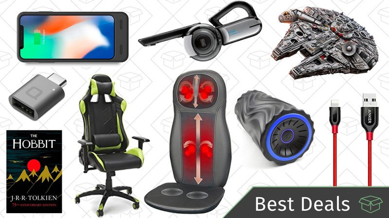 Illustration for article titled Thursday's Best Deals: Massagers, Gaming Chairs, Millennium Falcon, and More