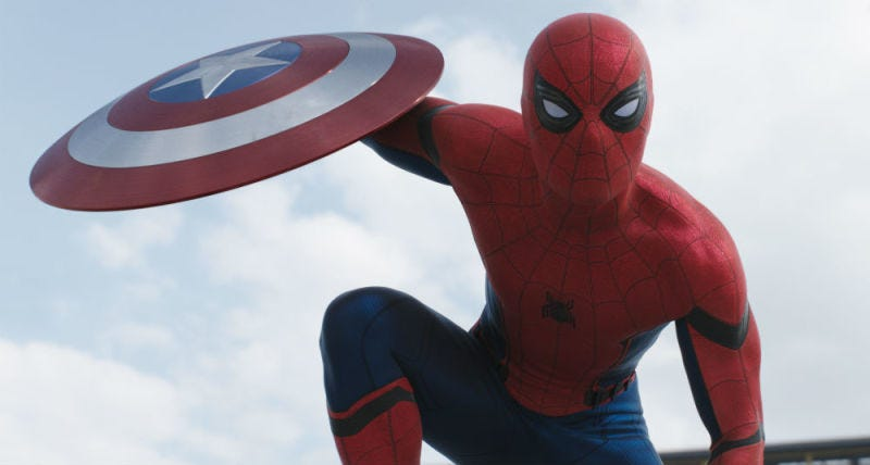 Illustration for article titled Spider-Man: HomecomingSet Pic Shows Off Spidey's Sweet New Web-Shooters