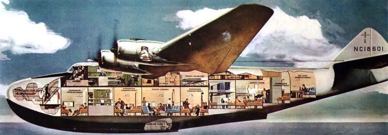 Illustration for article titled Forget the Concorde, I Want to Fly on Boeing's Lost Flying Boats of the 1940s