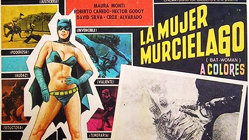 Illustration for article titled That Time a Mexican Filmmaker Turned Batman Into a Female Wrestler
