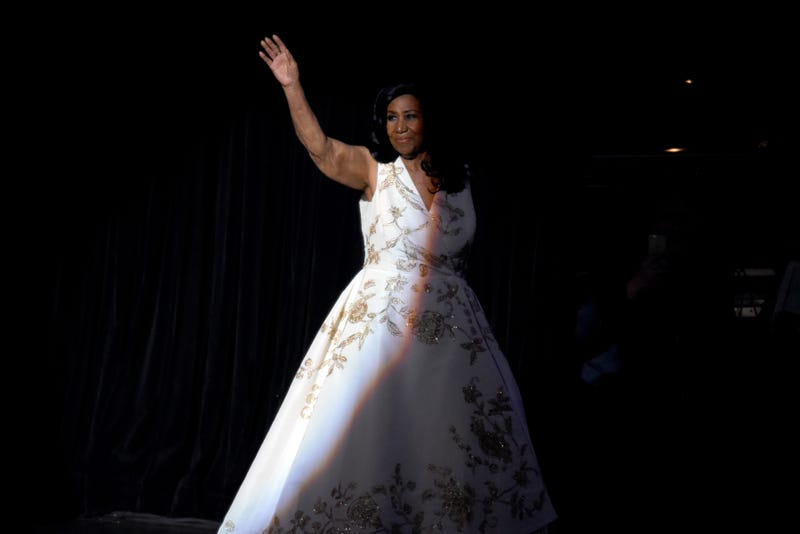 Aretha Franklin performs onstage during the Clive Davis: The Soundtrack of Our Lives' Premiere Concert on April 19, 2017, in New York City.