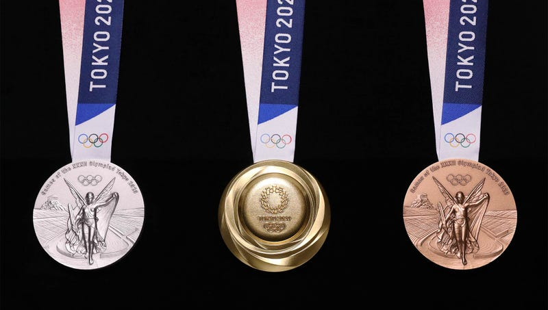 Illustration for article titled Así son las medallas de los Juegos Olímpicos de Tokio 2020 hechas de teléfonos reciclados