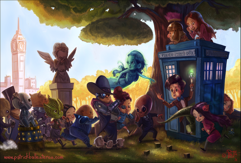 Illustration for article titled The Doctor Who kids play hide-and-seek with a Weeping Angel