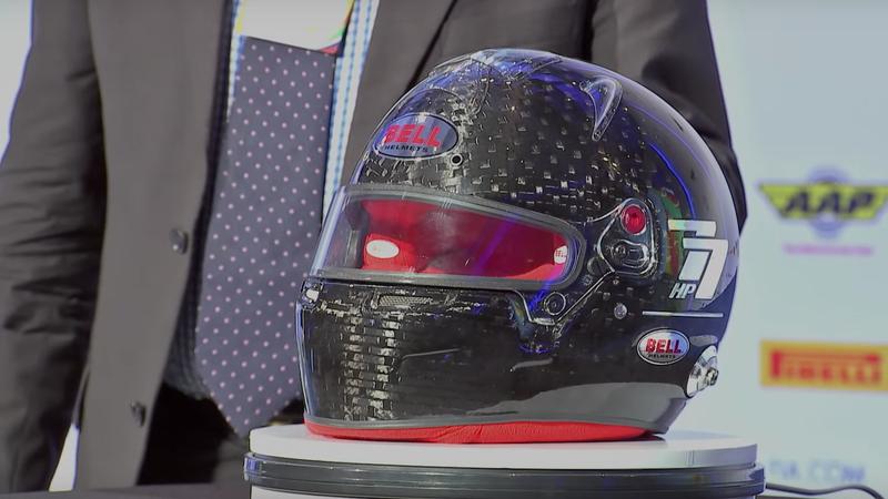 The standard Formula One helmet for the 2019 race season.