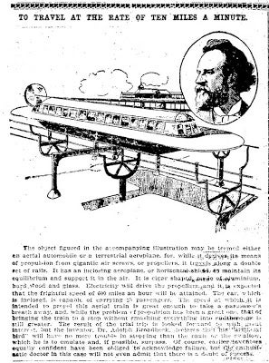 Illustration for article titled 600 Miles An Hour (1901)