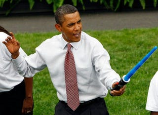 Illustration for article titled Galactic Truth Surfaces as President Obama Finally Reveals Himself as Jedi Master