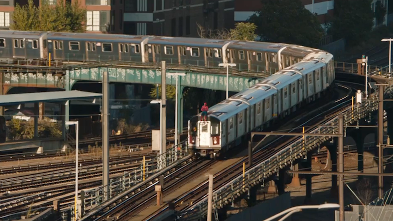 The least believable thing in this movie is that Peter found a running train. (All images: Marvel/Sony)