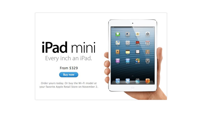 Illustration for article titled You Can Pre-Order the iPad Mini Right Now