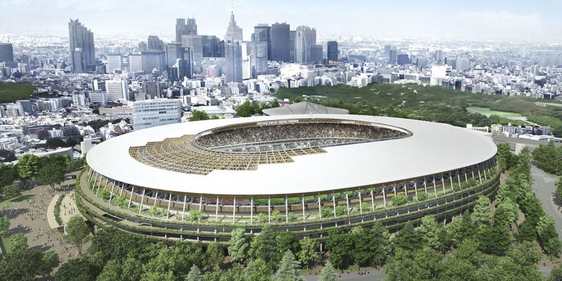 Illustration for article titled This Will Be Tokyo's 2020 Olympic Stadium