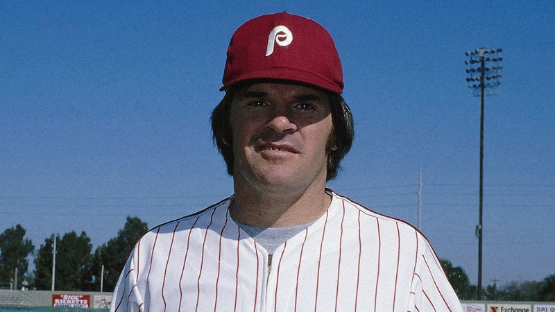 Pete Rose with the Phillies in 1979. Photo: AP