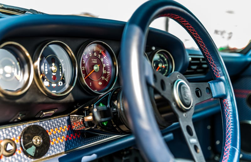 This is the inside of one of the 911s reimagined by Singer. And it's what our man Kurt Bradley was u